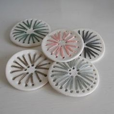 buttons like this? ceramic & cotton