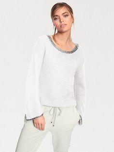 RICK CARDONA by Heine Oversized-Pullover mit Nieten für 49,90€. Im Trend: mit Nietenapplikation, Mit ausgestelltem Arm bei OTTO