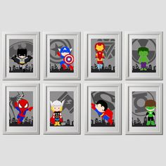 Hey, I found this really awesome Etsy listing at https://www.etsy.com/listing/204386810/superhero-wall-art-prints-set-of-8