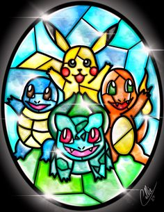 Stained Glass Pokemon by CallieClara.deviantart.com on @DeviantArt
