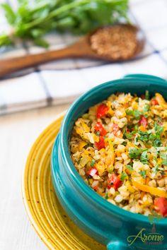 Hrisca cu legume - Arome de poveste Fried Rice, Allrecipes, Quinoa, Fries, Vegetarian Recipes, Gluten Free, Mai, Ethnic Recipes, Food