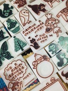 今日も40個達成(>_<)ノ の画像|ART & CRAFT KOTORIの消しゴムはんこ Craft Tutorials, Diy Projects, Handmade Stamps, Handmade Cards, Eraser Stamp, Diy And Crafts, Arts And Crafts, Fabric Stamping, Stamp Printing