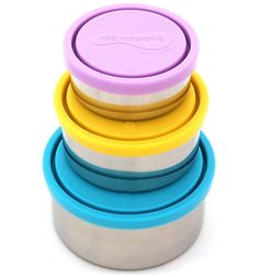 stainless steel food container, reusable food storage, leak proof, BPA free, waste free lunch