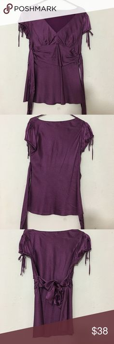 Blouse Express silk blouse. Ties in the back Express Tops Blouses