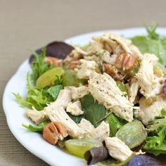 Is there a science to good chicken salad? Rosemary Poached Chicken and Pecan Salad