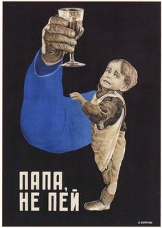Soviet Anti-Alcohol Posters, 1929-1969   Retronaut #poster #typography