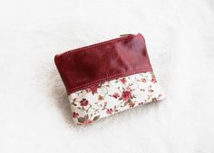 Romance  Handmade upcycled leather and fabric by TheDrifterLeather, €14.50