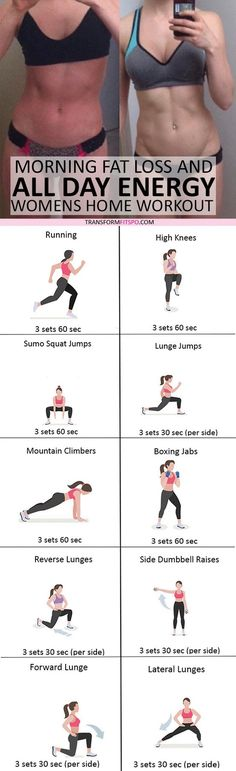 Lose Fat Belly Fast - #womensworkout #workout #femalefitness Repin and share if this workout gave you all day energy! Click the pin for the full workout. Do This One Unusual 10-Minute Trick Before Work To Melt Away 15+ Pounds of Belly Fat