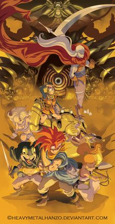 Chrono Trigger fan art in an anime style
