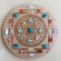 'Confidence' Crystal Grid. Beautiful Sri Yantra crystal grid!
