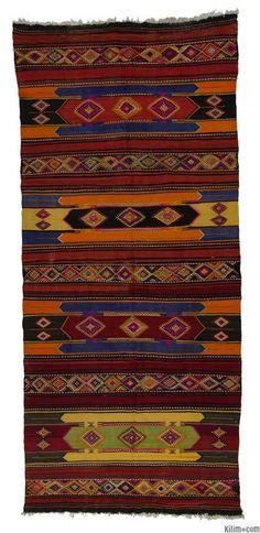 SÍVAS kilim, ca. 1960.  Mixed technique: kilim & 'cicim' / jijim.