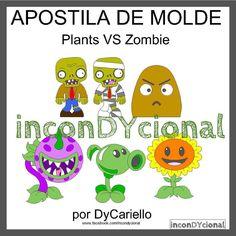 >> Apostila digital com Personagens do Plants VS Zombie [conforme imagem], para ser feito em feltro/tecido.  >> Vem com os personagens que estão na imagem!  >>R$37,00  https://www.facebook.com/inconDYcional/photos/a.811942578856722.1073741827.187805041270482/1085452098172434/?type=3&theater