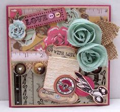 Best of Betsy's: Kaisercraft's Needle and Thread Cards.