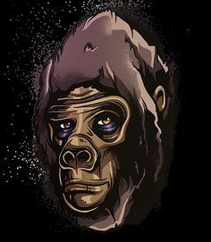Apes by Ioana Sopov Deviant Art, Monkey, Artworks, Street Art, Illustration Art, Creatures, Characters, Science, Portrait