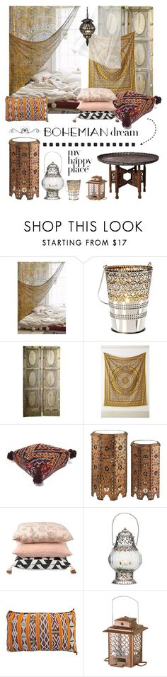 """Bohemian Dream: Moroccan Decor"" by lacas ❤ liked on Polyvore featuring interior, interiors, interior design, home, home decor, interior decorating, Magical Thinking, Citta Design, The Moroccan Room and Improvements"
