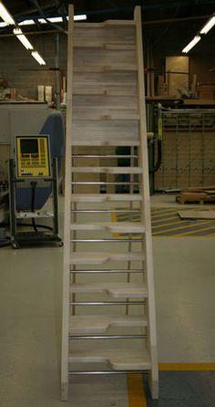 Escalera recta con zancas laterales (para espacios pequeños) BIRCH 24 SPACE SAVER Stair Plan