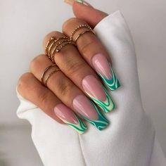 Acrylic Nails Coffin Short, Best Acrylic Nails, Acrylic Nail Designs, Acrylic Tips, Coffin Nails, Stylish Nails, Trendy Nails, Drip Nails, Vacation Nails