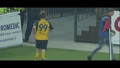 He's his own #1 fan! | This Is Just A Very Unique Way Of Celebrating One's Own Goal In A Soccer Match