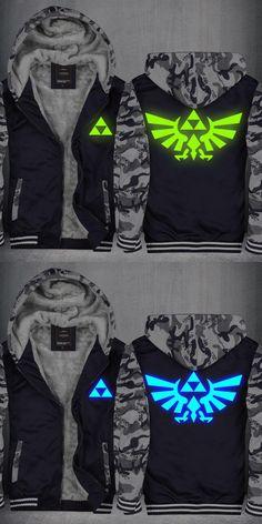 High-Q Unisex The Legend of Zelda Luminous Hooded Hoodie Cardigan Jacket Top Zelda noctilucent Hoodie Sweatshirts Top