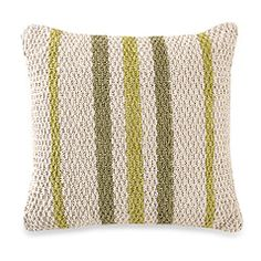 Striped Rugman Square Toss Pillow