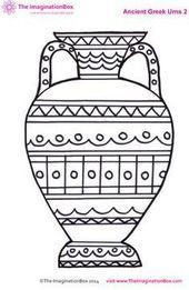 ancient greek urn colouring sheet fun free printables for kids Ancient Greek Art, Egyptian Art, Ancient Greece For Kids, Ancient Greece Crafts, Greek History, Art History, Ancient History, European History, Ancient Aliens