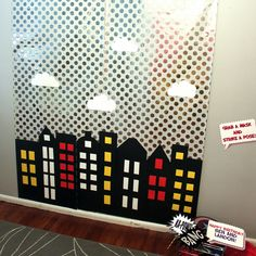 super hero backdrop | And now for one of the boys' favorite things...their very own gotham ...