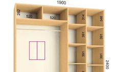 Resultado de imagen para closet em l medidas