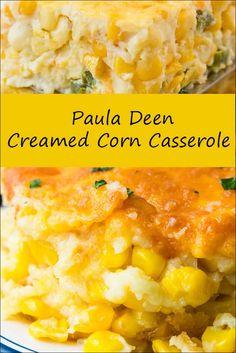 The Best Paula Deen Creamed Corn Recipes on Yummly Paula Dean Corn Casserole, Creamy Corn Casserole, Easy Casserole Recipes, Casserole Dishes, Paula Deen Broccoli Casserole, Mexican Corn Casserole, Corn Cassarole, Baked Creamed Corn Casserole, Casserole Ideas
