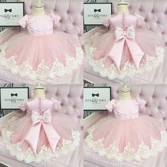 Sweet pink and lace Cute Girl Dresses, Girls Pageant Dresses, Little Girl Dresses, Flower Dresses, Ball Dresses, Baby Dress, Pink Dress, Kids Frocks, Baby Girl Fashion