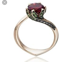 Beauty and the Beast Rose Ring