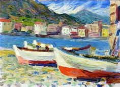 Shop for Wassily Kandinsky 'Rapallo boats' Oil on Canvas Art. Get free delivery On EVERYTHING* Overstock - Your Online Art Gallery Store! Art Gallery, Modern Art, Painting, Wassily Kandinsky, Kandinsky Art, Canvas Art, Abstract, Oil Painting Reproductions, Abstract Expressionist