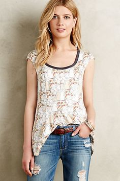 Look at Anthro...they went and put a bird on it!  Tullia Swing Top #anthropologie