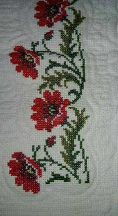This Pin was discovered by Hül Cross Stitch Borders, Cross Stitching, Cross Stitch Embroidery, Hand Embroidery, Embroidery Patterns, Cross Stitch Patterns, Crochet Patterns, Palestinian Embroidery, Free To Use Images
