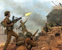 Pinturas de ejércitos y batallas - - Pantings of armies and battles Tanks and armored. Military Diorama, Military Art, Military History, Ww2 History, History Images, Operation Market Garden, British Army Uniform, D Day Landings, Military Drawings