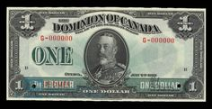 Dominion of Canada Dollar, 1923 - Image courtesy of the Bank of Canada | #banknote #money