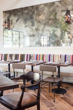 THE DISTRESSED MIRRORS AND THE PILLOWS/BENCHES Inside Gracias Madre | West Hollywood Design District's Most Popular Mexican Hotspot | So Haute Style
