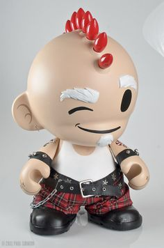 munny | Punk St. Nick Custom Mega MUNNY By Paul Sirmon