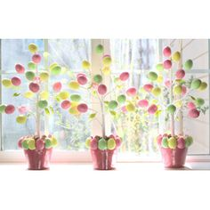 Target Dollar Egg Tree  #Easter #Crafts and #Spring #DIY Projects