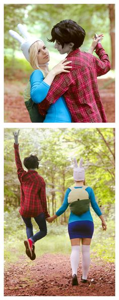 Fionna and Marshall Lee from Adventure Time | http://green-makakas.deviantart.com/art/Adventure-Time-Dance-with-me-389443191