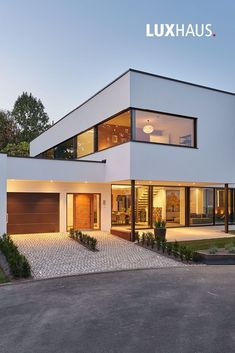 LUXURY HOUSE heart The new model house in Bad Vilbel show house constructio House Architecture Styles, Architecture Design, Architecture Panel, Drawing Architecture, Architecture Portfolio, Contemporary Architecture, Modern Contemporary, Modern Glass, Home Building Design