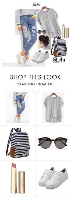 """Shein3"" by adelisa56 ❤ liked on Polyvore featuring Illesteva, Stila, WithChic and shein"