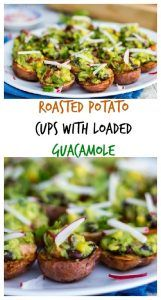 Roasted Potato Cups with Loaded Guacamole