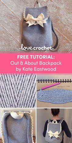 Crochet Club: The backpack on the go Crochet Shoes, Crochet Clothes, Knit Crochet, Crochet Stitches Patterns, Purse Patterns, Crochet Handbags, Crochet Purses, Crochet Crafts, Crochet Projects