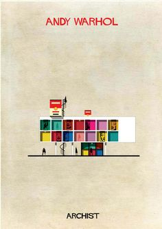 Iconic works from artists including Piet Mondrian, Andy Warhol, Damien Hirst, Marcel Duchamp and more are reinterpreted as cross-section. Andy Warhol, Dali, Josef Albers, Frank Stella, Richard Serra, Mark Rothko, Lucio Fontana, Art Et Architecture, Architecture Student