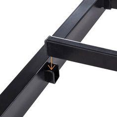Iron Furniture, Steel Furniture, Industrial Furniture, Furniture Design, Platform Bed Designs, Metal Platform Bed, Office Table Design, Steel Bed Frame, Metal Beds