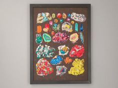 Gem and Crystal Illustrated Chart / Natural by ScoutandWhistle, $32.00