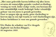 Quote. Onmetelijke genade. Citaat uit dagboek Jochen Klepper.