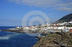 Garachico town on Tenerife, Canary Islands, built on volcanic debris