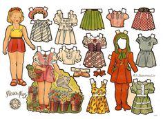 (⑅ ॣ•͈ᴗ•͈ ॣ)                                                               ✄muñecas recortables, paper dolls,