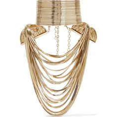 Rosantica Convertible gold-tone choker ($1,580) ❤ liked on Polyvore featuring jewelry, necklaces, accessories, jewels, chokers, gold tone jewelry, gold tone chain necklace, convertible necklace, chevron necklace and gold colored necklace